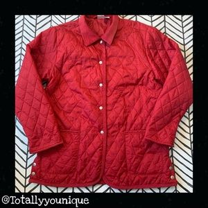 Cherokee Quilted Button Up Coat